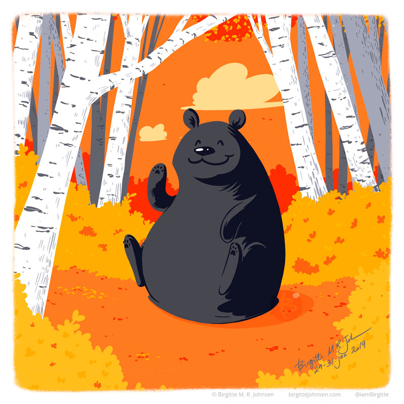 Bear seasons, autumn.