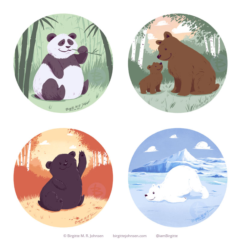 Bear seasons - all four bears and seasons.