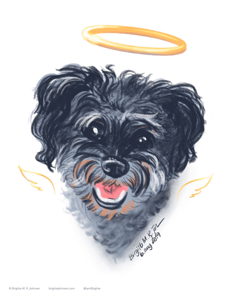 Digital painting of the late and great Gizmo.