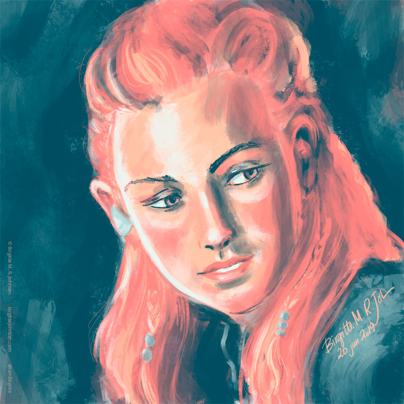 Portrait of a calm looking Aloy.