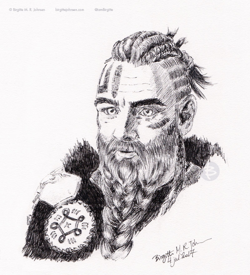 A portrait of Rost, the father figure in Horizon Zero Dawn