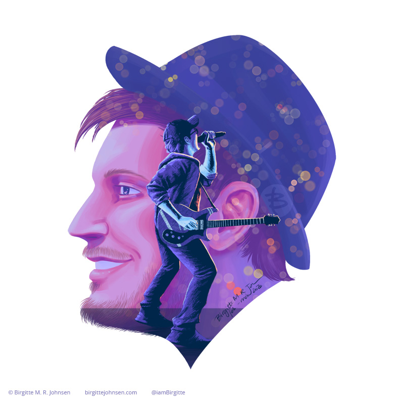 Double exposure portrait of Patrick Stump, detail from the poster above.