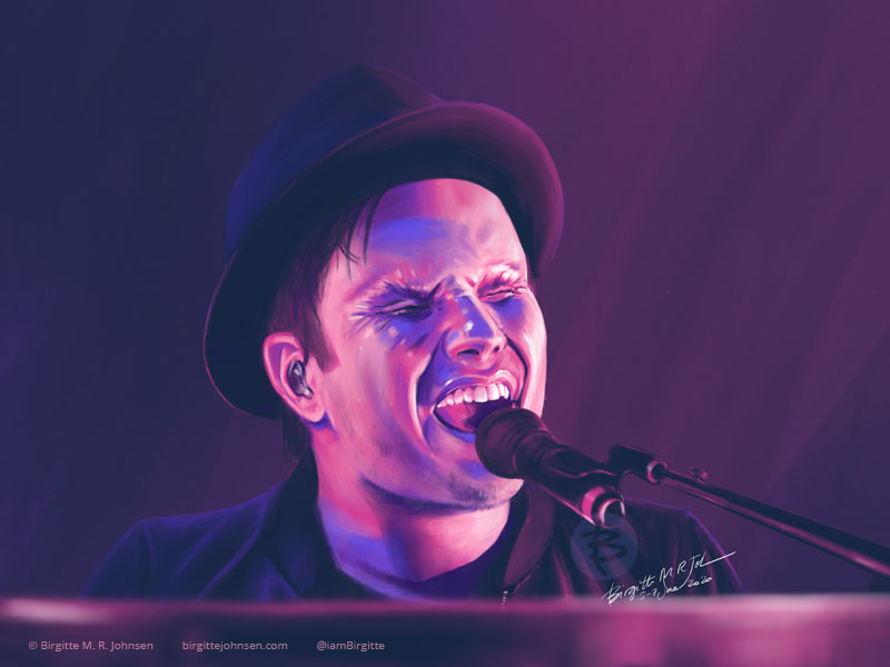 A digital portrait of multi-talented musician Patrick Stump.