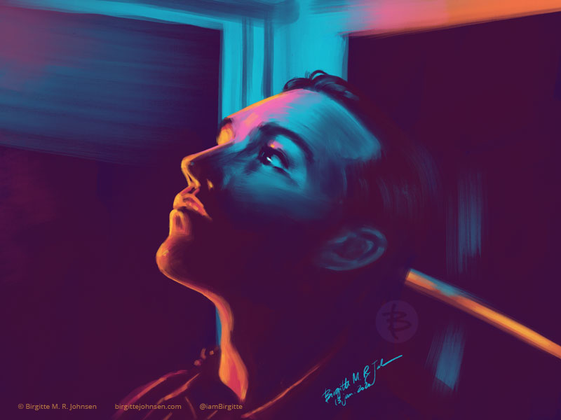 A digital portrait of bassist and lyricist Pete Wentz.